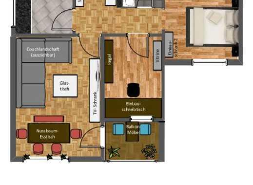 Möblierte 3-Zimmer-Wohnung am Westkreuz