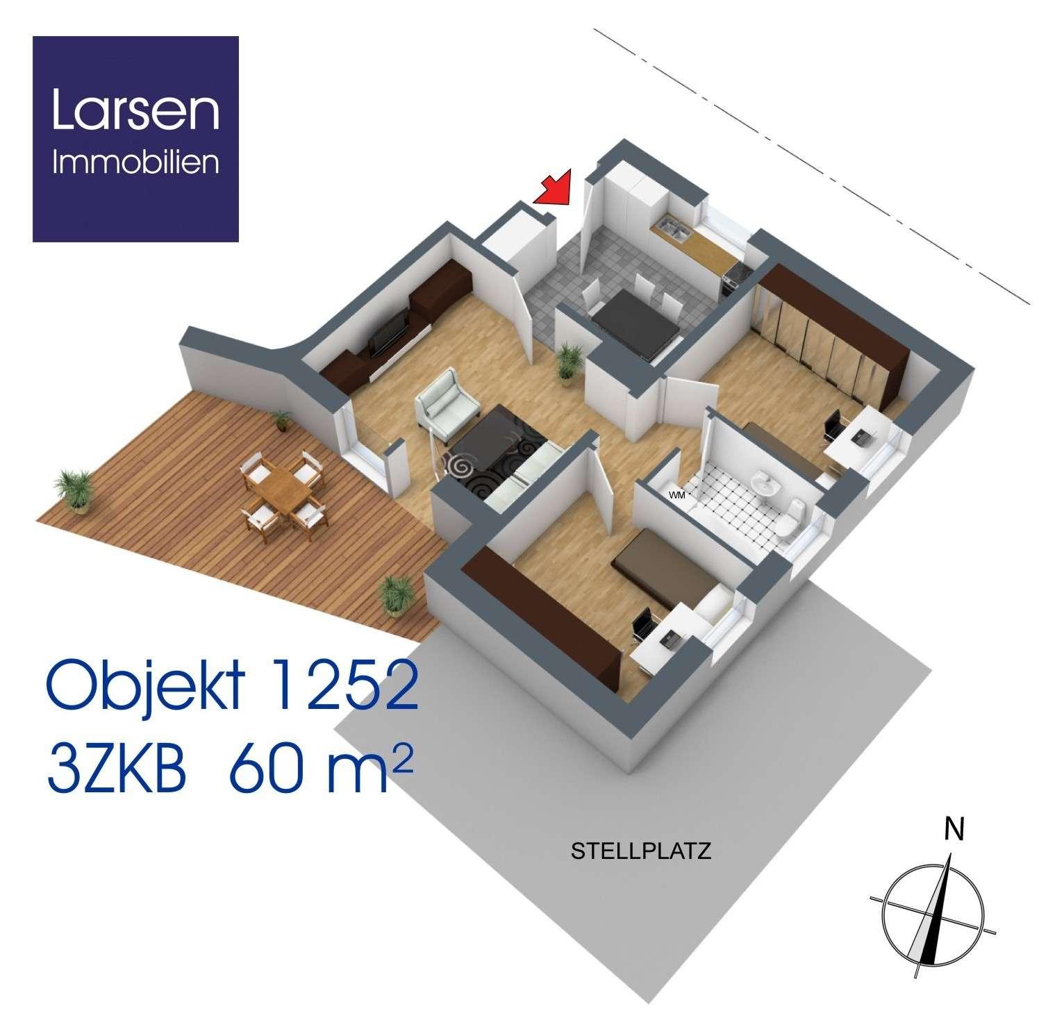 Attraktive 3-Zi-Wohnung in Reinhausen - hochwertig möbliert in
