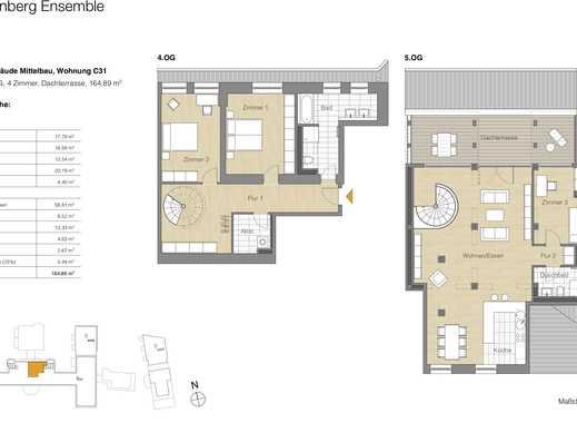 4 Zi.-Whg., Dachterrasse, Lage im historischen Altau Wohnen auf zwei Ebenen