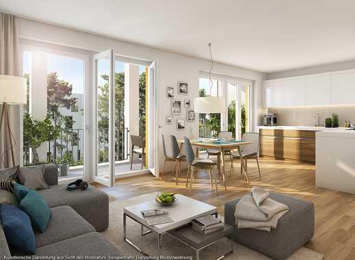 4-Zimmer-Balkonwohnung mit ca. 34 m² großem Wohn-Ess-Kochbereich und zwei Bädern