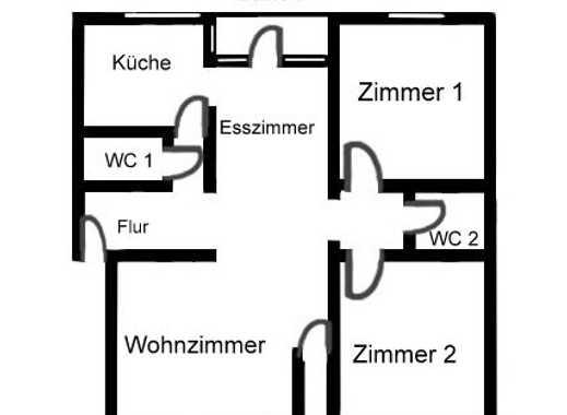 Gepflegte 3-Zimmer-DG-Wohnung mit Balkon in Mönchengladbach