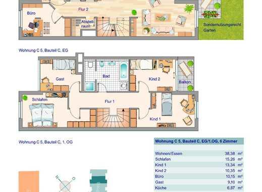 Großzügige 6 Zimmer Maisonette-Wohnung mit Süd-West Garten