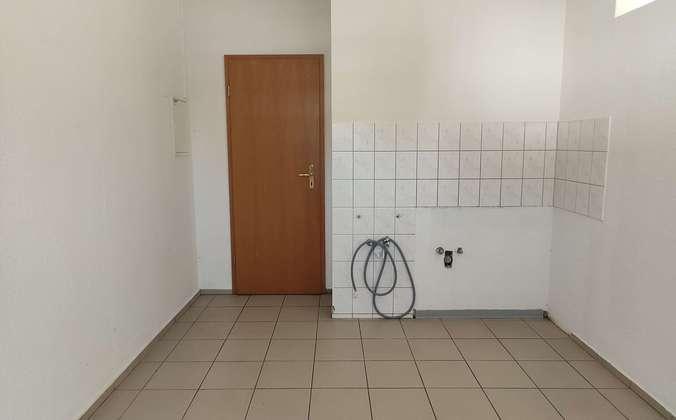 Küche mit Blick zum Personal-W