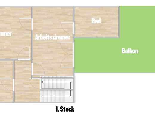 Modernisierte 3-Zimmer-DG-Wohnung mit Balkon und Einbauküche in Holzheim