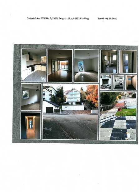 """lichtdurchflutete Wohnung in 4-Fam.Haus mit Balkon in """"aussichtsreicher"""" Südhanglage in Krailling (Starnberg)"""