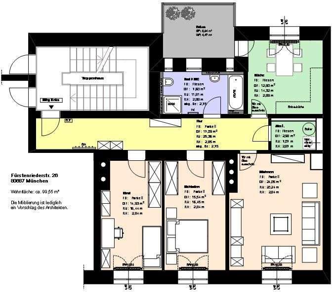 *Laim*3 Zimmer*möbliert*sep. Küche mit EBK*Badezimmer mit Wanne*Balkon*Speicher*Parkett* in Laim (München)