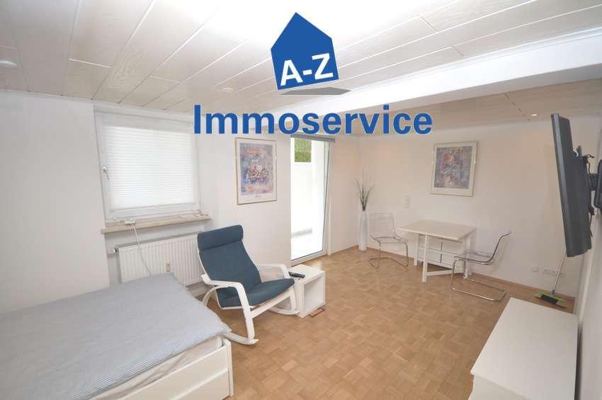 Komplett ausgestattete u. möblierte taghelle 1-Zimmer-Souterrain-Wohnung m. Wintergarten in Giesing in Obergiesing (München)