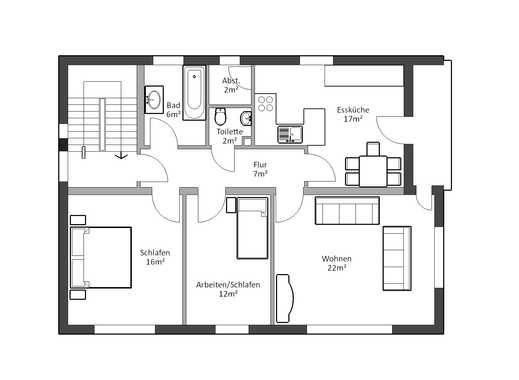 Helle 3,5 Zimmer Wohnung in Ergoldsbach