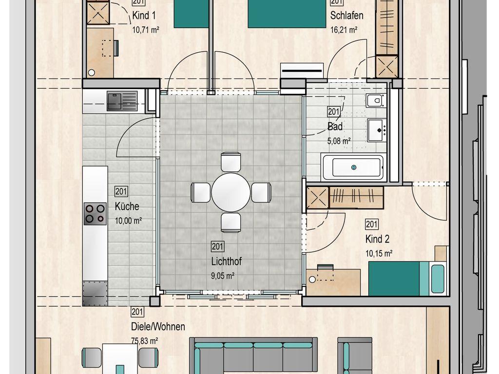 Grundriss Wohnung 201