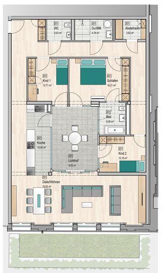 Attractive Grundriss Wohnung 201