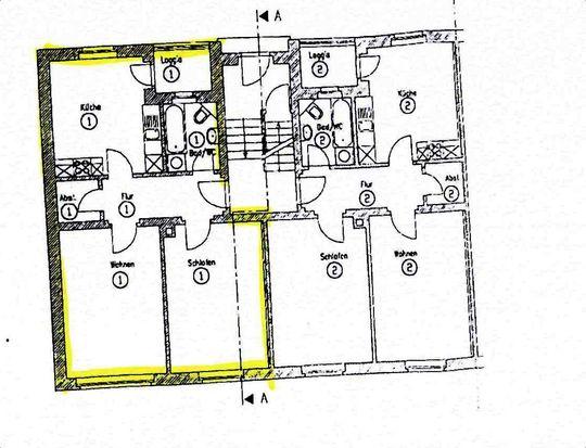 Grundriss 1. Wohnung