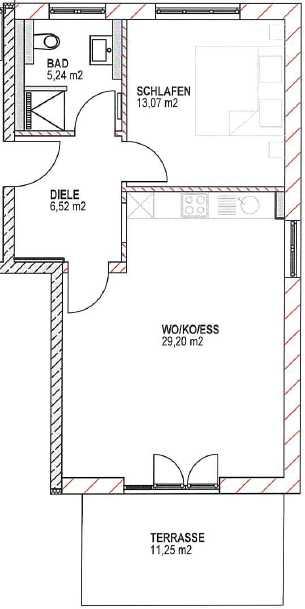Neubau: 2-Zimmer-Wohnung mit Terrasse, in Daglfing, München in Bogenhausen (München)
