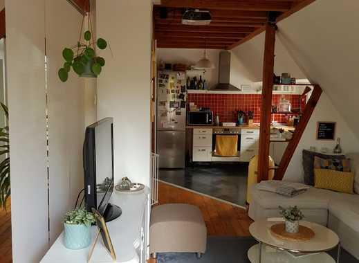 Außergewöhnliche 3,5-Zimmer-Altbau-Maisonette-Wohnung mit Balkon und Küche in Dortmund-Barop