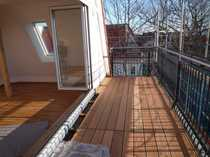Bild DG (4. OG), 4 Zi. plus große Wohnküche, 2 Terrassen, 2 Bäder, EBK, Gasetagen-Hzg, Altbau Friedenau