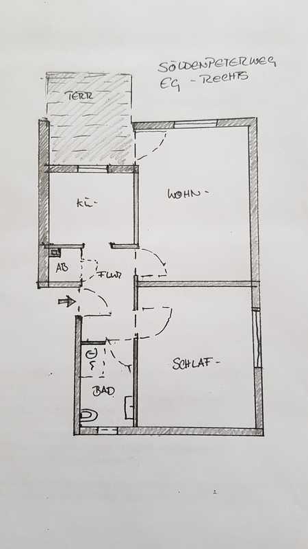 Erstbezug nach Sanierung: schöne 2-Zimmer-Erdgeschosswohnung mit EBK und Balkon in Passau in Haidenhof Nord (Passau)