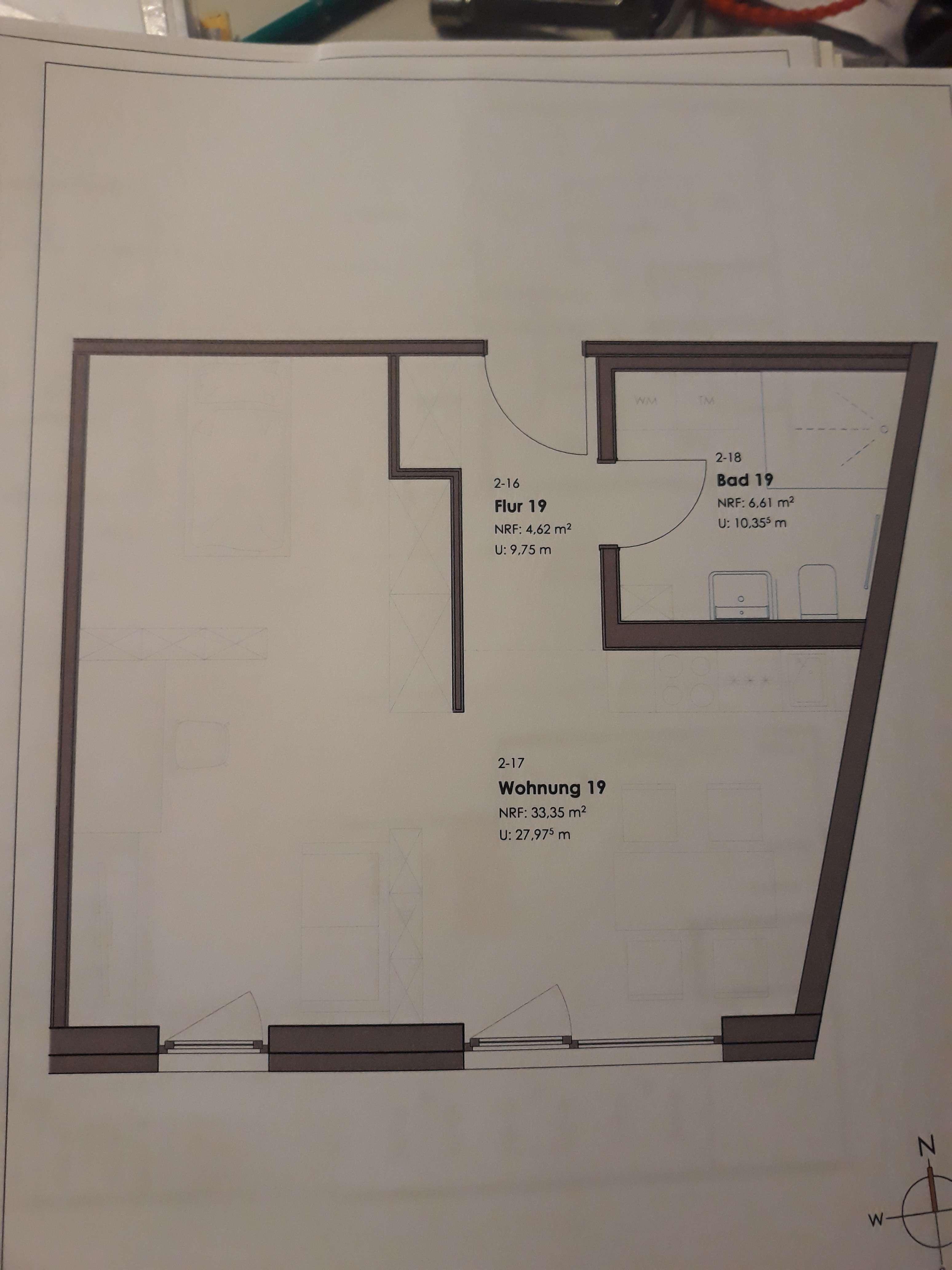 1-Zimmerwohnung Würzburg-Hubland, Erstbezug in