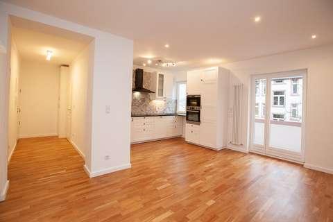Topsanierte Wohnung mit 2 Schlafzimmern, Wohnzimmer mit ...