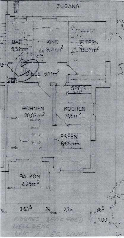 Ruhige 3-Zimmer-Wohnung am Ortsrand von Kellberg in