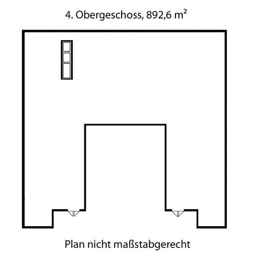 Grundriss ohne Unterteilung