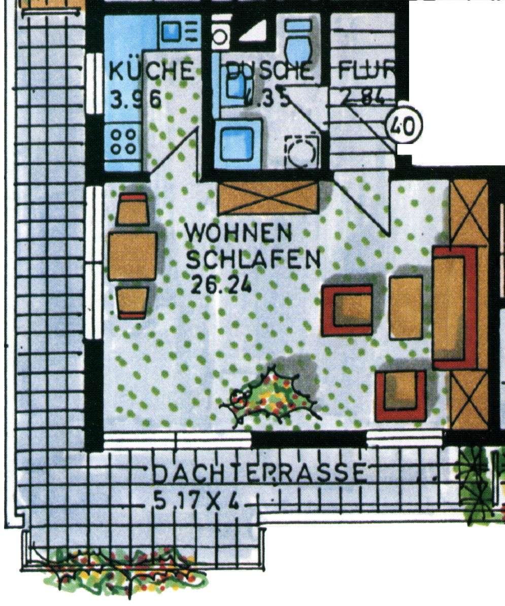 Apartment mit Dachterrasse und Blick über die Stadt in Friedrichshofen (Ingolstadt)
