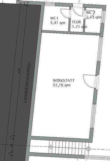 Grundriss EG Anbau-Werkstatt