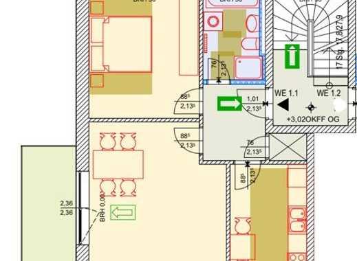 moderne 2 Raumwohnung ca 63 m² Wfl. mit Balkon, verfügbar ab 01.08.2019