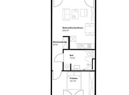 Erstbezug: exklusive 2-Zimmer-EG-Wohnung mit EBK und 2 Terrassen in Mainzer Neustadt