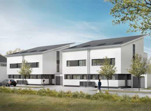 Moderne Doppelhaushälfte mit Garten und Terrasse, Dachterrasse, Garage und Kfz-Stellplatz