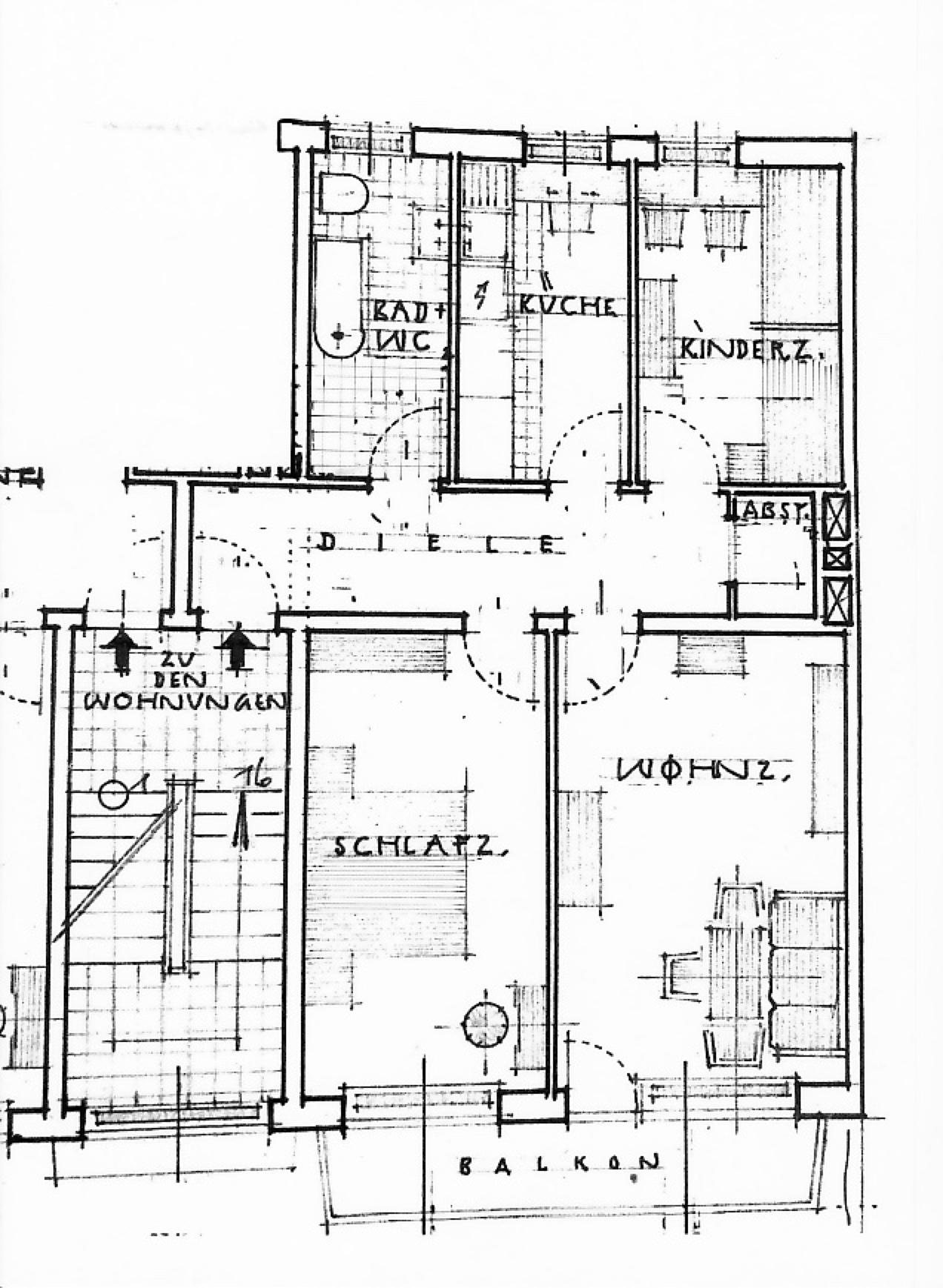 Stilvolle, gepflegte 3-Zimmer-Wohnung mit Balkon in Dachau (Kreis)