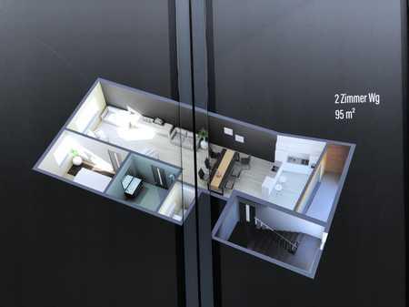 Erstbezug, ansprechende 2-Zimmer-Wohnung mit Balkon in Marktheidenfeld in Marktheidenfeld