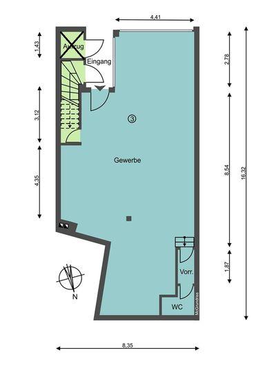 Grundrissskizze Untergeschoss