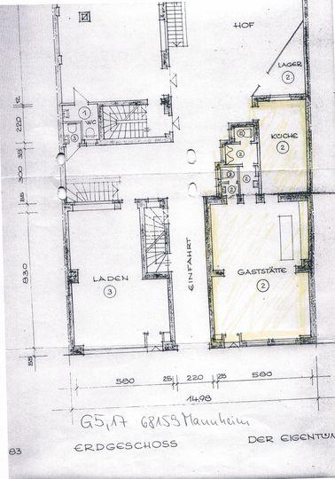 Plan Geschäftsräume G5, MA