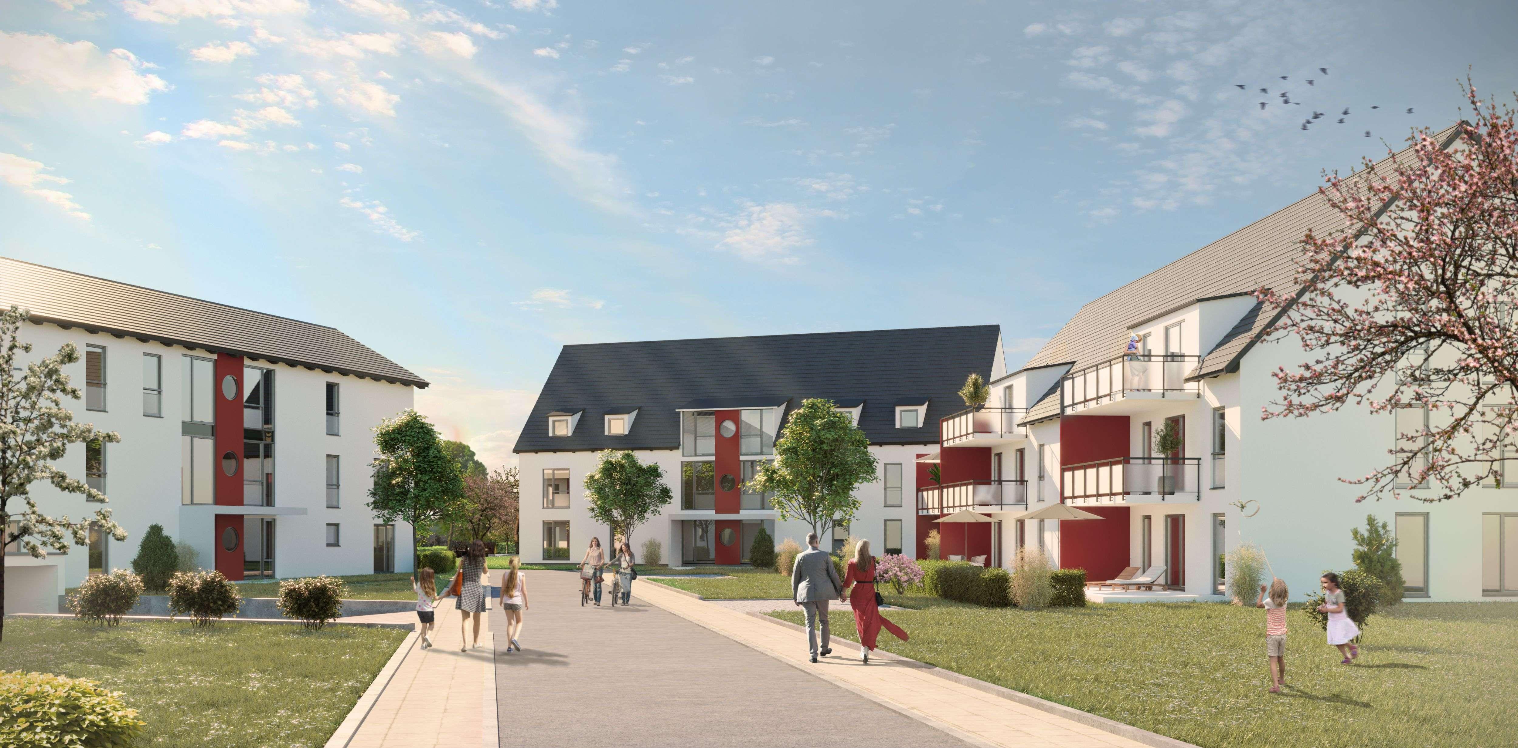Neubau! 3 Zimmer-Wohnung in Horgau! Bezug geplant Ende 2019! Vermietung nur mit WBS III !