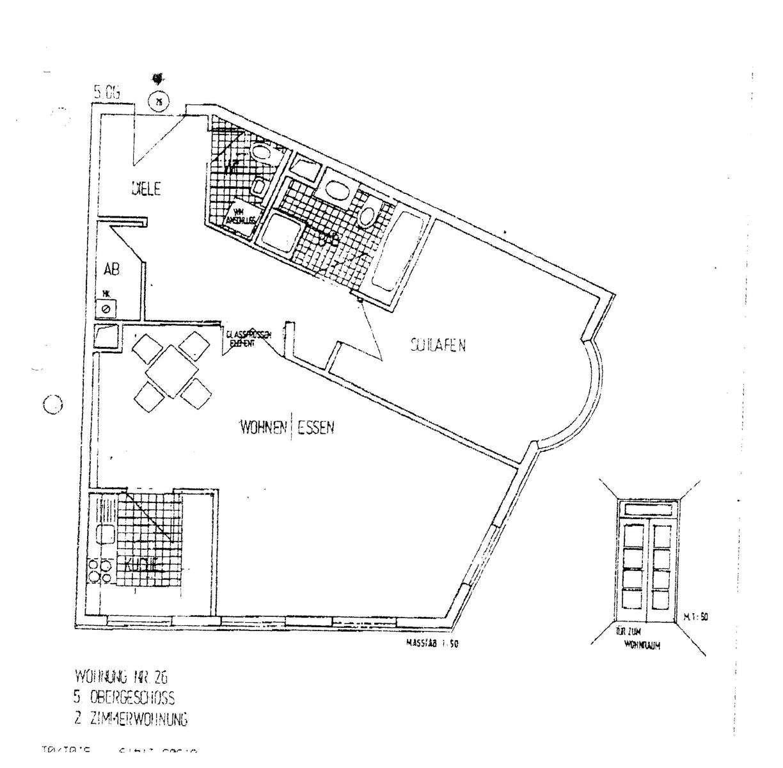 Möblierte, exclusive, geräumige 2-Zi.-Wohnung (max.18 Monate) zwischen Gärtnerplatz/Viktualienmarkt