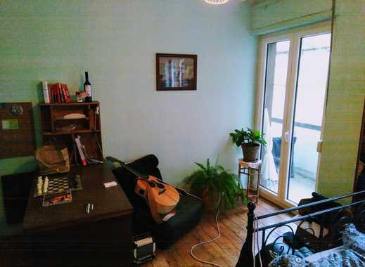 Gemütliche grüne Oase mitten in Offenbach! 18m²-Zimmer möbliert mit 5m² Balkon in 100m² 3er WG mit D