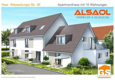 ALSAOL Immobilien: Neubau - schönes 1-Zimmer-Apartment mit Terrasse und Einbauküche! in Haar (München)
