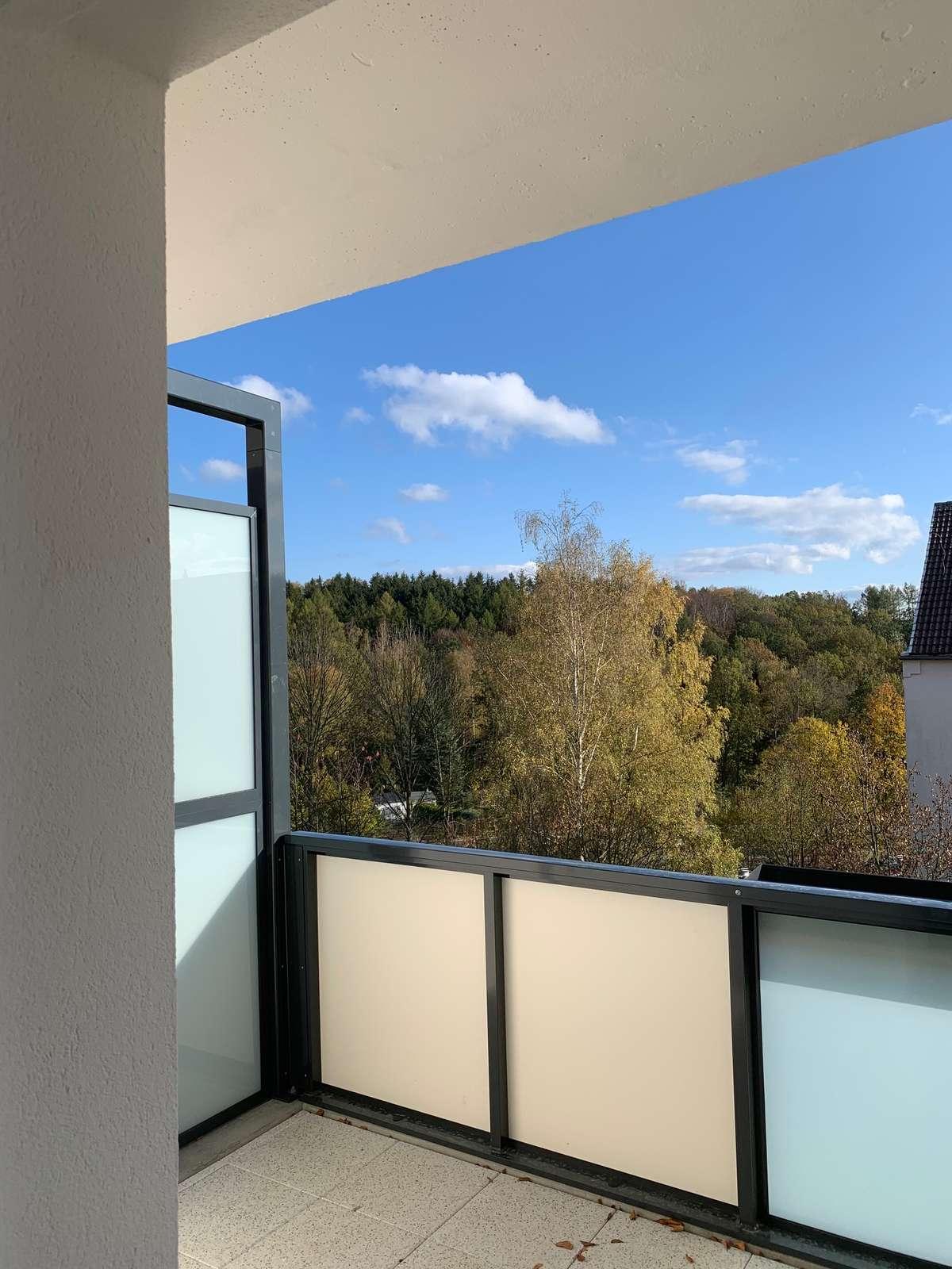 Aussicht vom neuen Balkon
