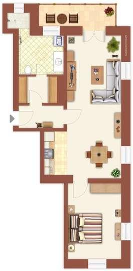 Kochstudio grundriss  Frank & Frank Real Estate - Traumhafte Altbauwohnung im ...