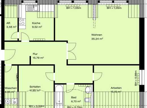 800 €, 92 m², 3 Zimmer