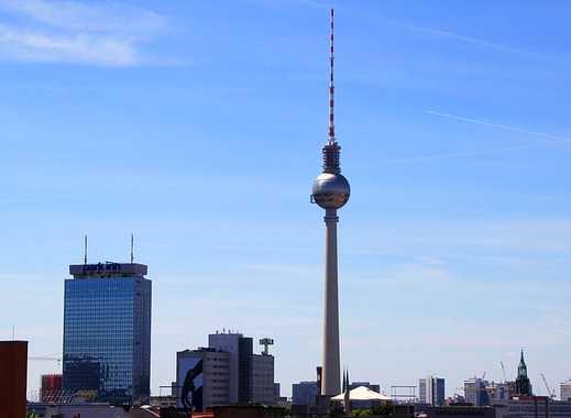 EXKLUSIVE PENTHOUSE-WOHNUNG MIT TRAUMBLICK ÜBER BERLIN / WASSERTURM / BESTLAGE PRENZLAUER BERG