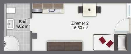Koffer packen und ins vollständig möblierte Apartment einziehen zentrale Lage München - Trudering in Trudering (München)