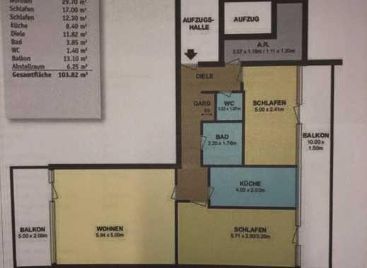 Modernisierte 3-Zimmer-Wohnung mit Balkon und Einbauküche in Weiden, Köln