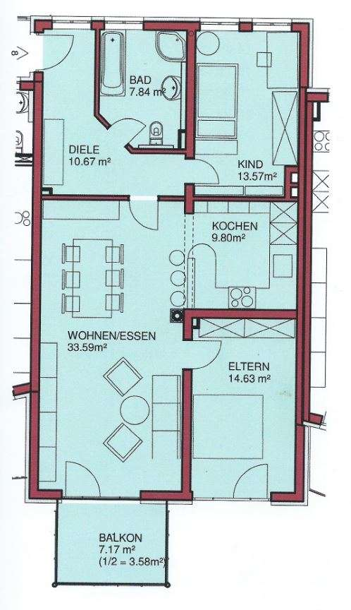 3-Zimmer-Wohnung im Zentrum von Altomünster