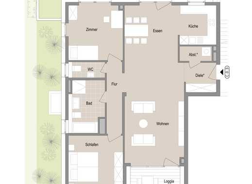 Großzügige 3 Zimmer-Gartenwohnung - Quartier Stadtgärten am Henninger Turm