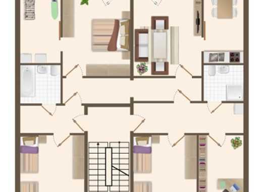 Familienstützpunkt. 5-Raum Wohnung mit zwei Balkonen