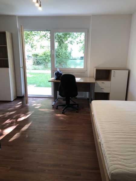 Schönes möbliertes 1-Zimmer-Appartment zentrumsnah mit Blick ins Grüne in Nordost (Ingolstadt)