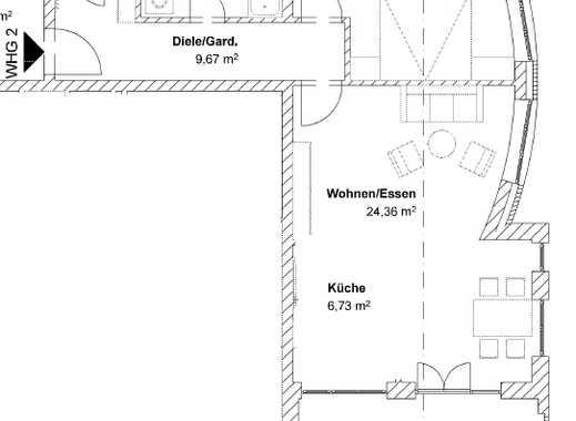 Erstbezug mit Balkon: schöne 2-Zimmer-Wohnung in Ergoldsbach
