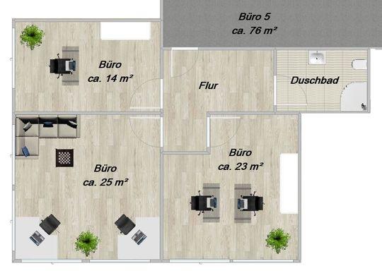O 5 ca. 76 m²