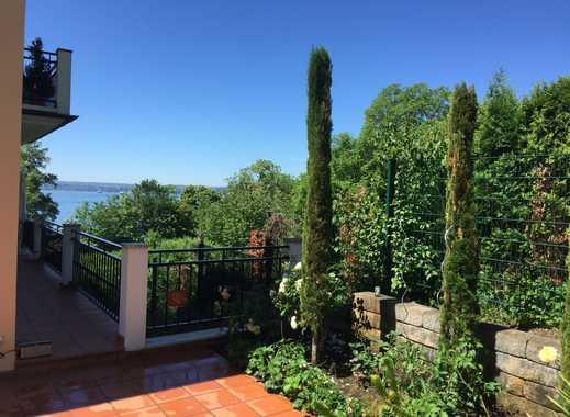 Exklusive 3-Zimmer-EG-Wohnung in Villa Meersburg mit Seeblick 50m zum Strand