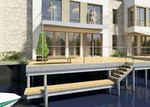 Bild Familienglück! Steg-Doppelhaushälfte mit Bootsanlegestelle, Terrasse, Studio und Dachterrasse